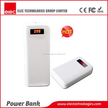 2015 unique design 6000mAh dual-port power bank with LED display screen
