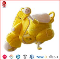 Sedex quality hot sale yellow plush motorcycle toys