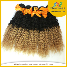 Street price fine quality fashion afro kinky curly indian remy hair weave