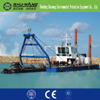 Low price mini cutter suction dredger pontoon boat for sale