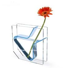 elegante diseño claro al por mayor de acrílico florero