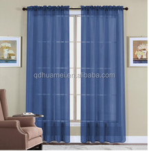 Home Decorative polyester Grommet blackout window curtain