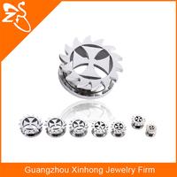 316 stainless steel body jewelry, piercing jewelry, gear wheel ear tunnel