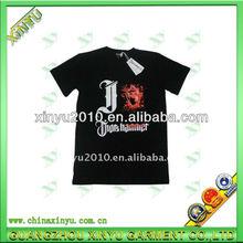 Popular black printing t shirt for boy