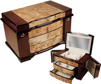 Wood Veneer Marquetry Piano Lacquer Painting Wooden Jewelry Box
