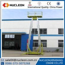 NUCLEON 2015 New aluminum mobile aerial work lift platform price