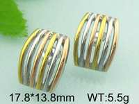 5.5g 17.8x13.8mm Guangzhou Jewelry Co.ltd Gold Plated Old Fashioned Earrings