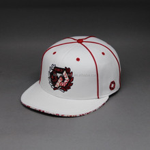 CUSTOM PLAIN SNAPBACK HATS WITH EMBROIDERY AND PIPING