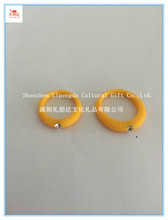 Wholesale yellow rhinestone silicone finger ring, colorful yellow 16mm 18mm 20mm 22mm silicone finger ring for adult and kids