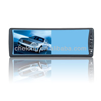 "Play VCD DVD CCTV GPS 7"" color TFT LCD rearview mirror monitor"