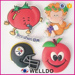 3D silicone fridge magnet embossed silicone rubber fridge magnet