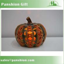 Festal decorative ceramic pumpkin