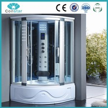 105x105 clear glass comfortable hydro steam shower