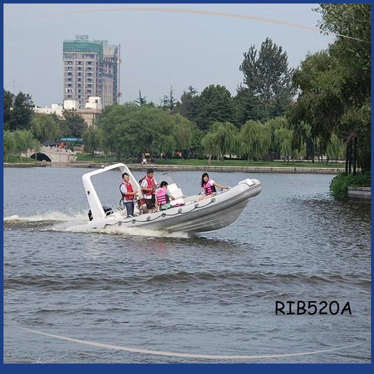 RIB520A AT SEA