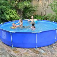 Family loved new Frame above ground pool equipment