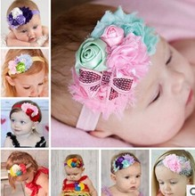 2015 new hot sale baby headbands, rose hairbands