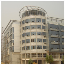 High quality reflective curved glass curtain wall