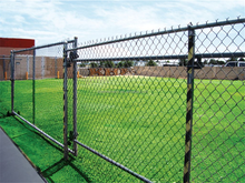 Low price Galvanized chain link fence, PVC coated chain link fence, Diamond mesh