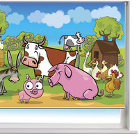 Cartoon roller blind, chain printed roller blinds, pattern roller shade
