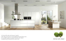 2015 new modern matt white lacquer kitchen with island with latest free design