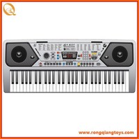 Hot selling 61 keys electronic musical keyboard instrument/ with USB and radio KB4004001UF