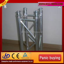 safety product easy install stage lighting truss with stainless steel pipe for events in stage decoration