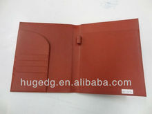 engraved faux leather business portfolio