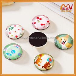 round-shaped epoxy custom 3d fridge magnets for office