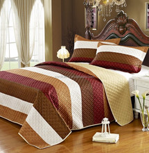 Wholesale Queen and King Size Modern Comforter bedding set,4pcs Black White and Grey/Brown Quilted Bedding Set