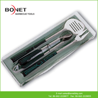 QPB0120 Golf Style 3Pcs Barbecue Tools In Box