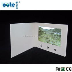 Best selling item 4.3'' / 5'' / 7'' LCD video in print greeting card for promotion advertising