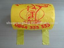 Custom printed plastic t shirt bags