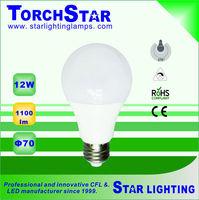 High transmission 12W 1100lm E27 LED bulb