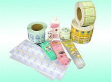 2015 hot product 2 layers adhesive logistics thermal label sticker