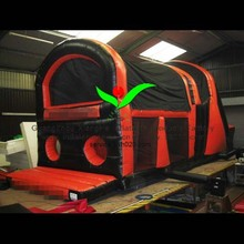 inflatable red slide inflatable black & red combo inflatable company colours combo slide