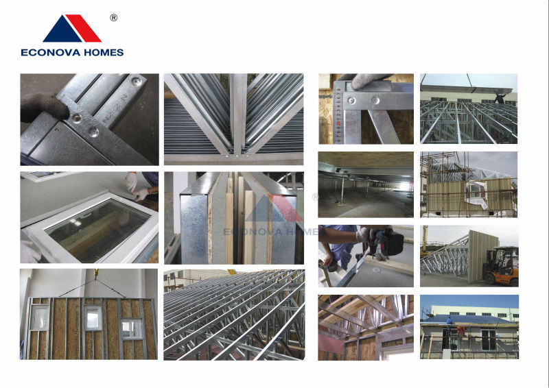 Europ Standard Prefabricated solar energy house energy saving and thermal insulation home