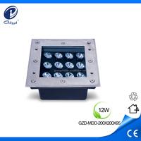 12W outdoor 12v led recessed light led landscape lighting in concrete
