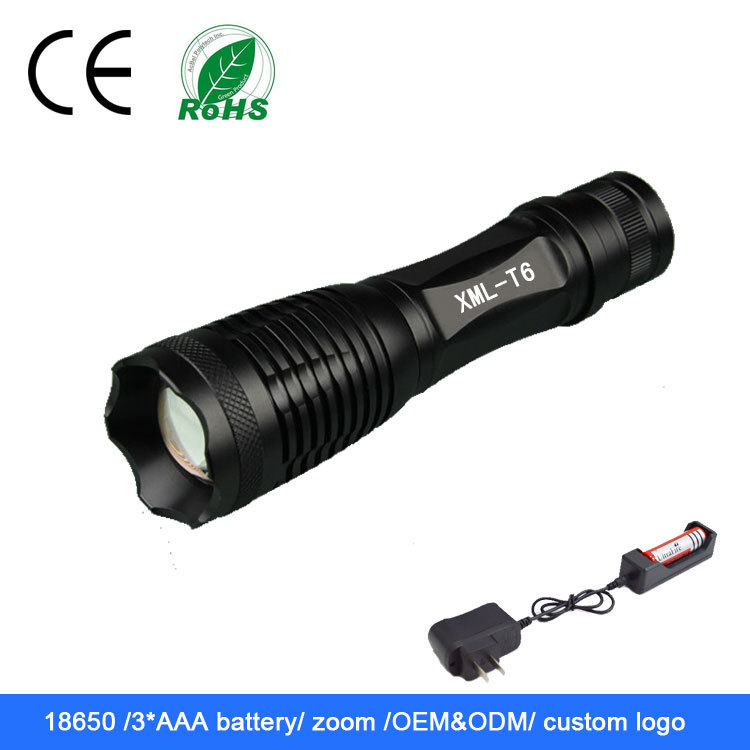 wholesale best aaa battery strong light rechargeable led flashlight for rifle hunting. Black Bedroom Furniture Sets. Home Design Ideas