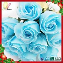 Promotion Best Selling Products Artificial Flower Rose Bud Red Velvet Rose Flower