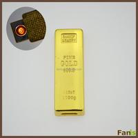 Hot Sales Gold Bar Shape USB Cigarette Lighter