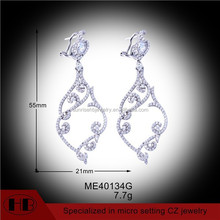 Top Selling Earrings Chandelier, CZ Earrings Chandelier, Silver Earrings Chandelier