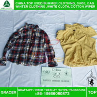 Made In China High Quality Bulk Ladies Cotton Blouse companies that buy used clothes