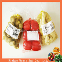 hdpe cheap netting fruit mesh packaging bags with label