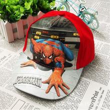 Baby Boys Girls Cartoon Spiderman Avengers Summer Beret Hat children's Spider man hat