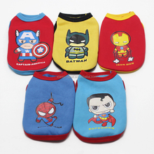 2015 High Quality Winter Clothes Warm Dog Vest Pet Wholesale Dog Clothes 5 Partterns Super Hero
