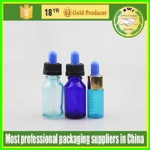 various colored airtight empty mini perfume glass dropper bottle 15ml