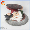 Cute resin santa claus solar powered garden ornaments