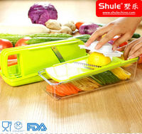 Shule Multi-Function Plastic Vegetable Cutter with Stainless Steel Blades