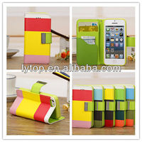 High Quality for Apple iPhone 5C Wallet Card Holder Leather Cover Case, for iphone 5c case