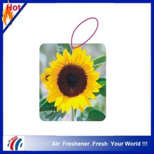 new sun flower design china-made cotton paper car air freshener